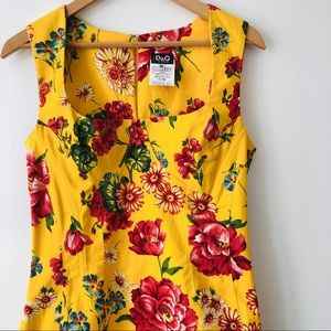 [Dolce & Gabbana] Vintage Floral Print Glove-Fit